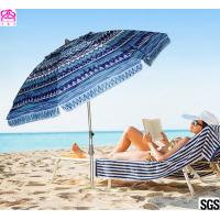 Quality 6FT 1.8m Patio Custom Portable Travel Beach Sun Umbrella Shelter With Powder Coated Frame wholesale