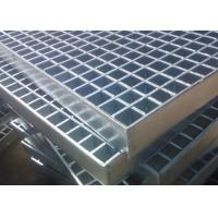Quality 70mm x 6mm Industrial Floor Grates Galvanized Steel Grating Platform Cross Bar 8mm x 8mm wholesale