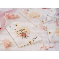 acrylic invitation magnetic wedding and envelope card double layers flower