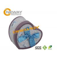 Quality Heart Shaped Soap Cardboard Gift Boxes With Lids , Silk Screening wholesale