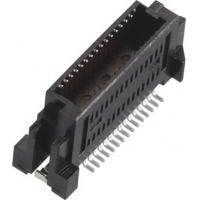 Quality Male 0.635mm Board to Board Connector Gold-plated LCP Black/Natural (UL94V-0) wholesale