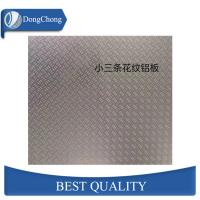 China 3 Bar Aluminium Alloy Checker Plate 3003 Embossed Chequered Plate For Flooring on sale