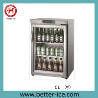 Quality Stainless Steel Glass Door Wine Bottle Cooler Refrigerator with CE Certificates (BI-90) wholesale