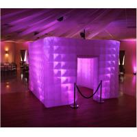 Quality supply professional inflatable photo booth durable double layer 10ft inflatable cube tent photo booth with led lights wholesale