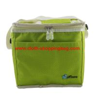 Quality Green polyester fabric built lunch cooler bag with strong handle wholesale