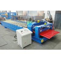 Quality High Speed Classic Glazed Tile Roll Forming Machine for Roof Profile , PLC Control for sale
