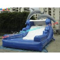 China Dolphin Outdoor Inflatable Water Slides, Swimming Pool Slide With UL Blower on sale