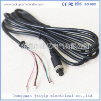 Quality 7 Pin 3 Terminal Extension Cable For Security Cameras , Black PVC Material wholesale