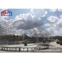 Cheap Arch Aluminum Light Truss , Led Screen Truss With 500g Color Fabric Roof Cover for sale