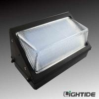 China DLC Qualified  Glass refractor 90W Outdoor Wall Packs LED Lights, 120 LPW, 5 yrs warranty on sale