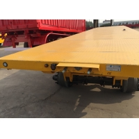 Buy cheap Carbon Steel 40 Tons 3 FUWA Axles Flatbed Trailer from wholesalers