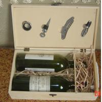 Buy cheap wooden wine box with accessory from wholesalers