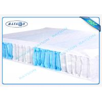 Quality 70 Gram White / Blue Color 47cm Width PP Non Woven Fabric For Box Spring Cover wholesale