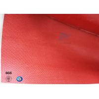 Quality Fire Protection Silicone Coated Fiberglass Fabric 260℃ 160g Coating Red Color wholesale