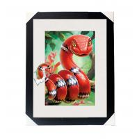 Quality Amazing 5D 30*40CM Lenticular Picture With PS Frame / 3D Animal Images wholesale