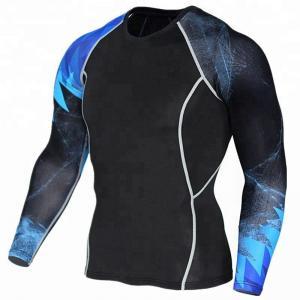 China Moisture Wicking Personalised Rash Vest UPF 50+ Sun Protection High Performance on sale