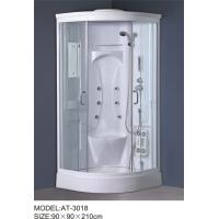 Quality White quadrant shower enclosure with hinged door ABS Material Bathtub wholesale