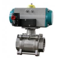 Quality Ball valve with pneumatic rotary actuators double acting and spring return wholesale