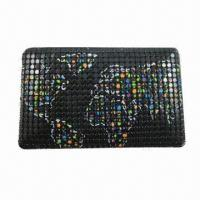 Quality Clutch Bag, 4mm Metal Mesh, World Map Printing, OEM Orders are Welcome wholesale