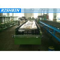 Quality Steel Eaves Trim Roof Panel Roll Forming Machinery 1.5 Inch Chains wholesale