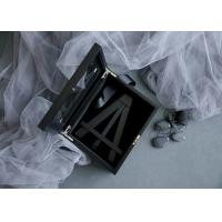 Quality Customized Wood Gift Packaging Boxes Black Color With Lacquer For Bamboo Easel wholesale