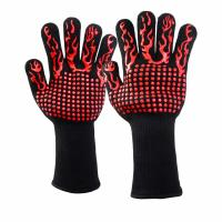 China 932F Extreme Heat Resistant Gloves BBQ Grill Glove for Cooking Baking on sale