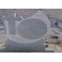 Quality Grey Granite Memorial Headstones Above 90 Degree Polished Surface wholesale