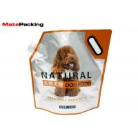 China Stand Up Foil Spout Pouch Moisture Proof For Pet Food Handle Top Custom Printing on sale