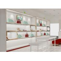 Quality Beautiful Adjustable Wood Shelving / Shoe Wall Display For Lady Shoe Mall wholesale