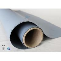 Quality Chemical Resistant Gray Color Silicone Coated Fiberglass Fabric 160g Two Sides Coating wholesale
