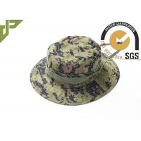 Quality Digital Green Army Tactical Cap , Ripstop Multicam Boonie Hat Adjustable String wholesale