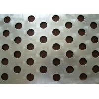 Quality Round Hole Perforated Steel Sheet , Q235 Steel Galvanised Perforated Sheet wholesale