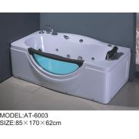 Quality 6 adjustable feet bubble jet bathtub White color , free standing air bathtubs excellent penetrability wholesale