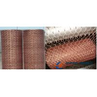 Quality Brass/Copper Hexagonal Wire Mesh, Mainly Used as Decorative Mesh wholesale