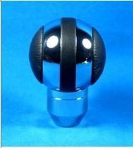 Quality Black + Sliver Aluminum Racing Auto Gear Knob For Man , Round Shift Knob wholesale