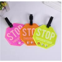 China Daily Use Beautiful PVC Luggage Tag Custom For Bags Cases PVLT-008 on sale