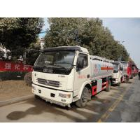 Quality Dongfeng Duolika 4*2 6.6cbm aluminum alloy fuel tank truck for sale,factory sale gasoline refueling tanker truck wholesale
