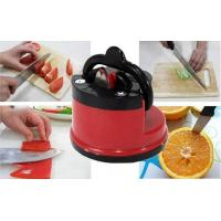 Quality Mini Manual Kitchen Knife Sharpener ABS Plastic Lightweight With Suction Cup Kitchen Tool wholesale