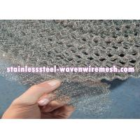Quality Crimped / Flat  Monel 400 Knitted Mesh Silver White For Oil - Gas Separation wholesale