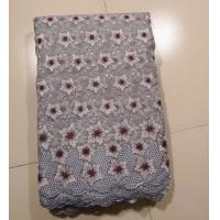 Grey Organza Lace Fabric With Flower Pattern