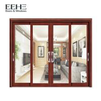 Quality Frosted Glass Slimline Aluminium Sliding Patio Doors High Temperature Resistant wholesale