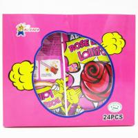 Quality Funny lollipop Rose Shaped Lollipops With Fluorescence Stick And Poping Candy/Multi fruit flavor wholesale