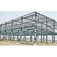 China Industrial Large Span Prefabricated Steel Structures With Workshop Bolts Connect on sale