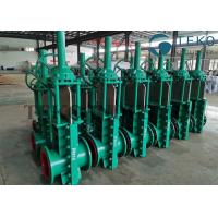 China Double Flange Mining Application Bi-Directional Seal Full Port Air Operated Knife Gate Valve on sale