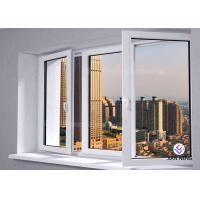 Outward / Inward Open Aluminum Casement Windows , Clear Tempered Glass Window