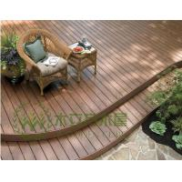 China Wood plastic composite outdoor decking flooring for covering on sale
