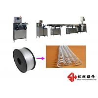 Cheap Spiral Wire PET PVC Binding Ring Strip Bending Machine With Single Screw Design for sale