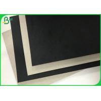 Quality Rigid Box Material 1.5mm 2mm Thick Black Clay Straw Grey Cardboard Paper wholesale