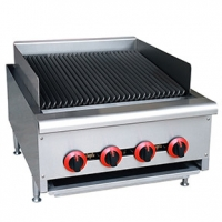 China Tabletop Gas Grill 24 4 Burners Commercial Kitchen Equipment on sale