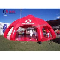 Quality Red Giant Inflatable Spider Tent With 8 Legs PVC Party Tents For Rent wholesale